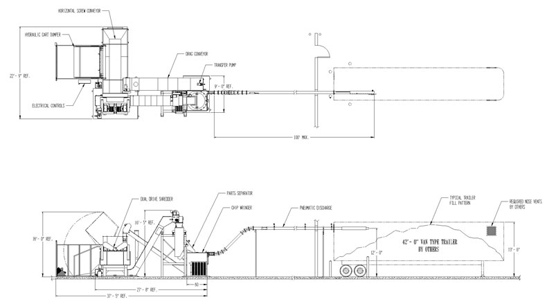 "Inter-Source Layout Drawing Single 40"" System"