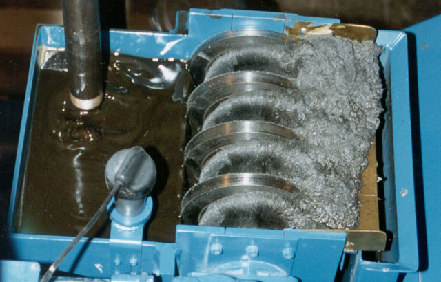 Magnetic filtration for separation of ferrous particulates.