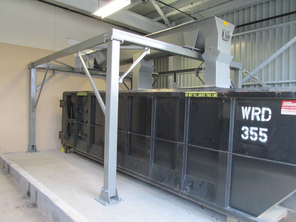 Dry chip load-out conveyor system.
